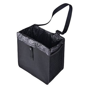 Car Trash Can Premium Waterproof Litter Hanging Garbage Bag Seat Back Organizer(10inchesx 10inchesx 6inches)