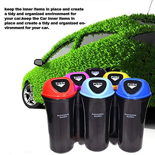 Car Trash Can Small Car Trash Bin Hanging Portable Auto Vehicle Car Garbage Can Bin Trash Container Waste Storage Fits Cup Holder Door Pocket Home Office Use
