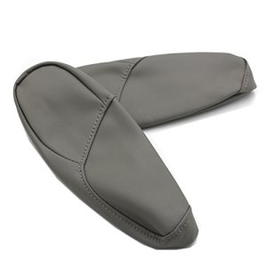 Ezzy Auto Gray Leather Armrest Arm Rest Cover Upholstery For 2007 2008 2009 Honda CR-V 4-Door