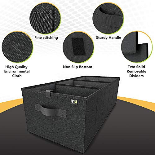 Expandable Large Capacity Portable Cargo Trunk MIU COLOR Foldable Car Trunk Organizer - Expandable Large Capacity Portable Cargo Trunk Storage Organizer Containers with Strap Handle