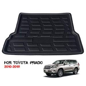 HZGrille Rear Cargo Liner Trunk Floor Mat for Trunk Modification of Prado (2010-2018), Waterproof Rubber Mats Provide All-Weather Protection,Black