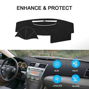 SAILEAD Car Dashboard Carpet,Dash Board Cover Mat Fit for Toyota Camry 2007,2008,2009,2010,2011 (Black)