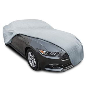 KAKIT Ford Mustang Car Cover for 2015-2019, 6 Layers Waterproof Windproof Dustproof Scratch Proof Custom Fit Car Cover for Ford Mustang, Free Windproof Ribbon & Anti-Theft Lock