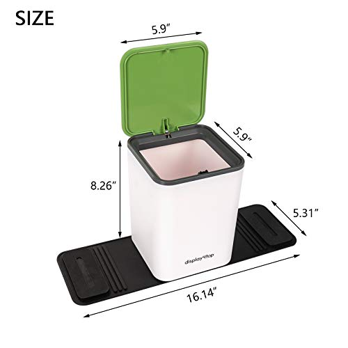 Trash Can Bin Waste Container Plastic with lid This product is a clear and straightforward answer.