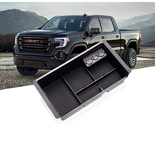 Moonlinks Center Console Organizer for GMC Sierra Yukon/Chevy Tahoe Silverado Suburban 2015-2020, Center Console Storage Box Tray Replaces 22817343(Full Console w/Bucket Seats ONLY)