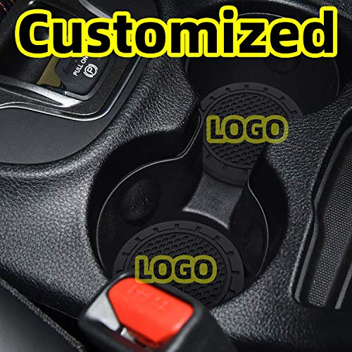 "AOOOOP Car Interior Accessories for Chevrolet Chery Cup Holder Insert Coaster - Silicone Anti Slip Cup Mat for Chevrolet Cruze Malibu Camaro Colorado Equinox Silverado (Set of 2, 2.75"" Diameter)"