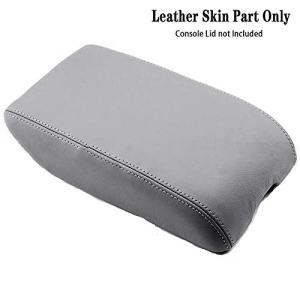 DSparts Center Console Lid Armrest Cover Leather for Toyota Avalon 2000-2004 Leather Part Only Gray