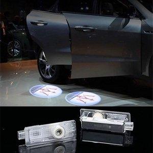 DELEIKA 2017 Maserati LOGO Car door LED logo projector Light ghost shadow light For Quattroporte Ghibli GranTurismo GranCabrio Levante (Ghibli, LOGO:1)