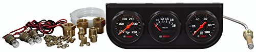 "Bosch Style Line 2"" Triple Gauge Kit Bosch Style Line 2"" Triple Gauge Kit (Black Dial Face, Black Bezel)"
