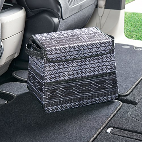 Large Covered Car Trash Can with Leakproof Lining High Road StableMate Large Covered Car Trash Can with Leakproof Lining - Baja