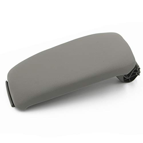 Ezzy Auto Gray Leather Suture Console Armrest Lid Cover for Audi A3 8P 2003-2012 Center Console Cover Lid