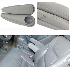 DSparts 1 Pair Leather Seat Armrest Covers Fit For 2005-2010 Honda Odyssey (Leather Part Only) Gray
