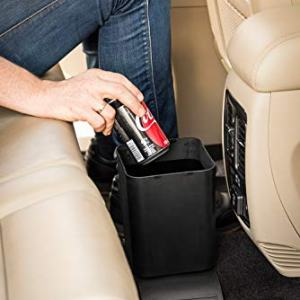 Meistar Car Trash Can Bin Waste Container Plastic with 20 Free Disposable Bags. 100% Leak Proof Car Organizer.