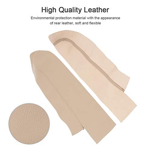 OCPTY 1 Pair Front Door Panels Armrest Covers Leather for 2007 2008 2009 2010 2011 2012 Honda CR-V(Beige)