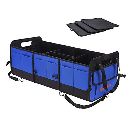 Autoark Multipurpose Car SUV Trunk Organizer,Durable Collapsible Adjustable Compartments Cargo Storage,AK-076