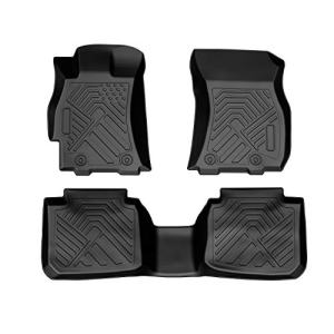 COOLSHARK Subarau Outback Floor Mats, Custom Fit Floor Liners for 2015-2019 Subaru Outback and Subaru Legacy,Full Set Floor Mats All Weather Protection,Black Color
