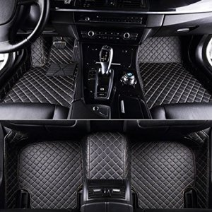 Dedicated Full Surrounded by Car Mats for Nissan Kai Chen D50 R50 T70 Sunshine Qi Jun Waterproof No Odor Carpets Non Slip,Black