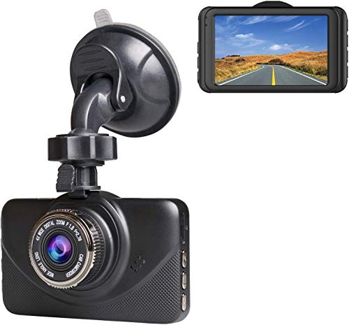 """Dash Cam 1080P Car DVR Dashboard Camera Full HD with 3"""" IPS Screen 170°Wide Angle, WDR, G-Sensor, Loop Recording and Motion Detection."""