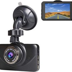 "Dash Cam 1080P Car DVR Dashboard Camera Full HD with 3"" IPS Screen 170°Wide Angle, WDR, G-Sensor, Loop Recording and Motion Detection."