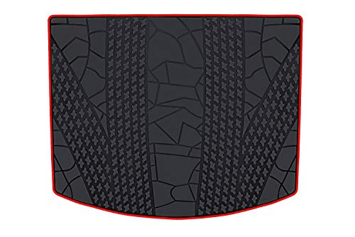 HD-Mart Cargo Liners Custom Fit for Ford Escape 2012 2013 2014 2015 2016 2017 2018 2019 Trunk Mats Black Red Rubber for All Weather Heavy Duty Odorless