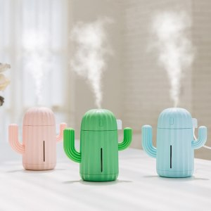 Mini Cactus Car Air Humidifier USB Aromatherapy Essential Oil Diffuser Mist Maker Aroma Atomizer Air Purifier Car Accessories