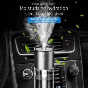 Newest Car Air Humidifier Bc35B Dual Usb Car Charger Qc3.0 Fast Charge Mini Car Aromatherapy Humidifier Spray