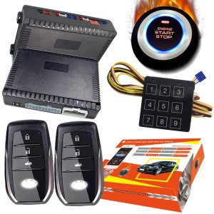 Cardot smart car alarm passive keyless entry start stop button