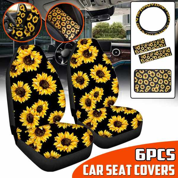 Seat Cover Set Sunflower Car Seat Cover Full Set