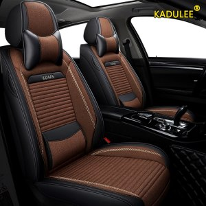 KADULEE flax car seat covers for Citroen c4 c5 c3 C6 Elysee Xsara