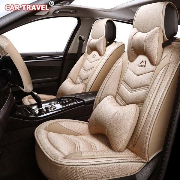 Flax car seat cover for Hyundai i10 i20