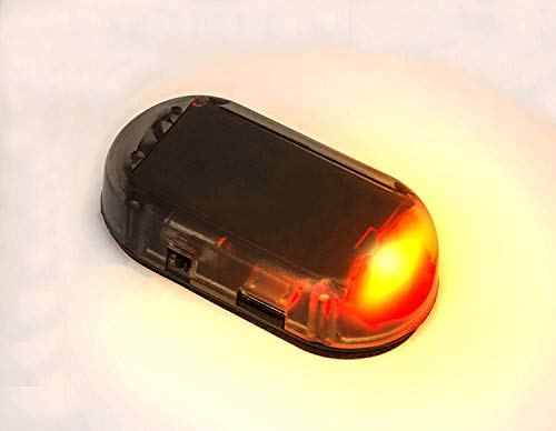 Car Solar Power Simulated Dummy Alarm Warning Anti-Theft