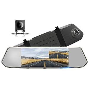 "TOGUARD Backup Camera for Cars 7"" Mirror Dash Cam"