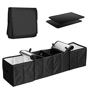Cozyswan Car Trunk Organizer Multi 4 Compartments Storage