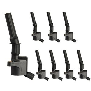 ENA Pack of 8 Curved Boot Ignition Coil