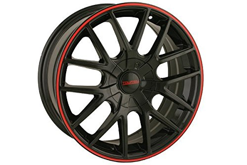 Wheel with Black Finish with Red Ring
