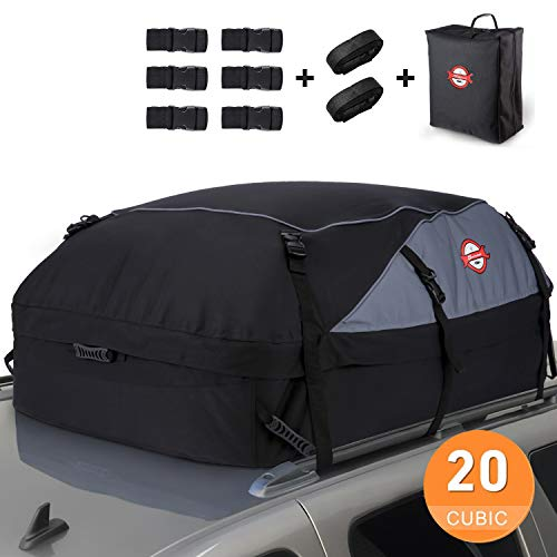20 Cubic Feet Waterproof Rooftop Cargo Carrier Soft Box Luggage