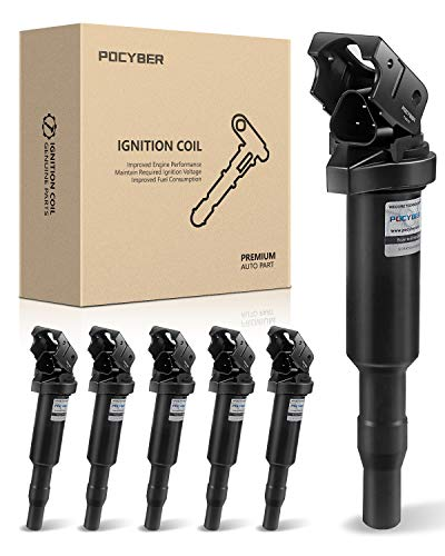 POCYBER Ignition Coils Pack Set of 6 for BMW