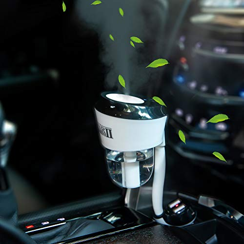 Car Humidifier Essential Oil Diffuser with Dual USB Charger Adapter