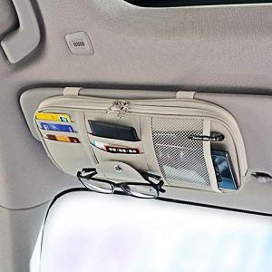 Da by Leather Car Sun Visor Organizer Auto Interior Accessories