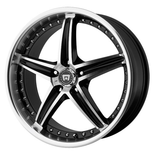 MR107 Wheel with Gloss Black Machined