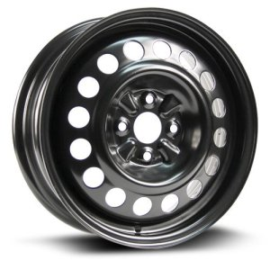 Aftermarket Wheel RTX, Steel Rim 15X5.5 black finish