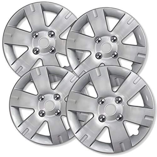 2007-2012 Nissan Sentra Wheel Covers 15in Hub Caps Silver Rim Cover