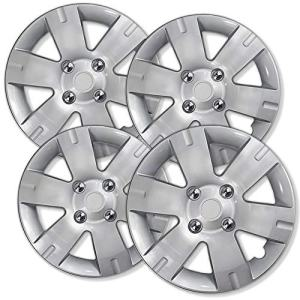 2007-2012 Nissan Sentra Wheel Covers 15in Hub Caps Silver Rim Cover