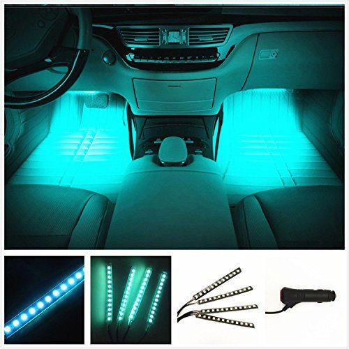 LED Car Interior Lights Under Dash Lighting Waterproof Kit