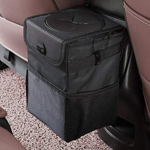 12L Large Capacity Car Trash Can Bin with Lid