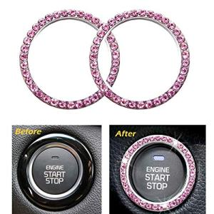 Engine Start Stop Decoration Crystal Ring