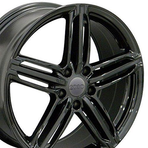 Volkswagen CC Beetle Audi A3 A8 A4 A5 18x8 Rims Gloss Black