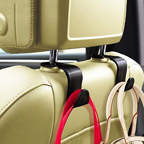 Sunferno Car Headrest Hooks 4 Pack - Exceptionally Stylish