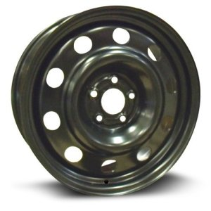 RTX, Steel Rim black finish 17X7, 5X108, 63.5
