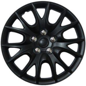 "Chrysler Turisma, 15"" Matte Black Replica Wheel Cover"